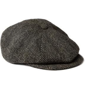PAUL SMITH HERRINGBONE WOOL FLAT CAP