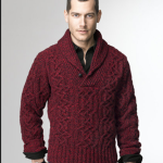 L.L. Bean Cable Shetland Supply Sweater
