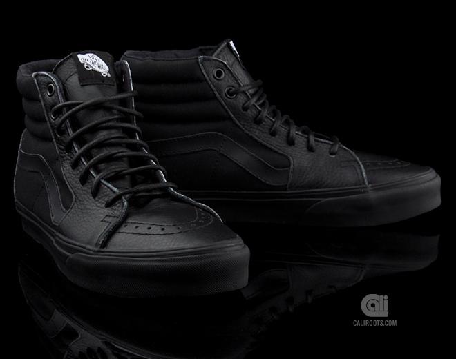 vans sk8 hi all black